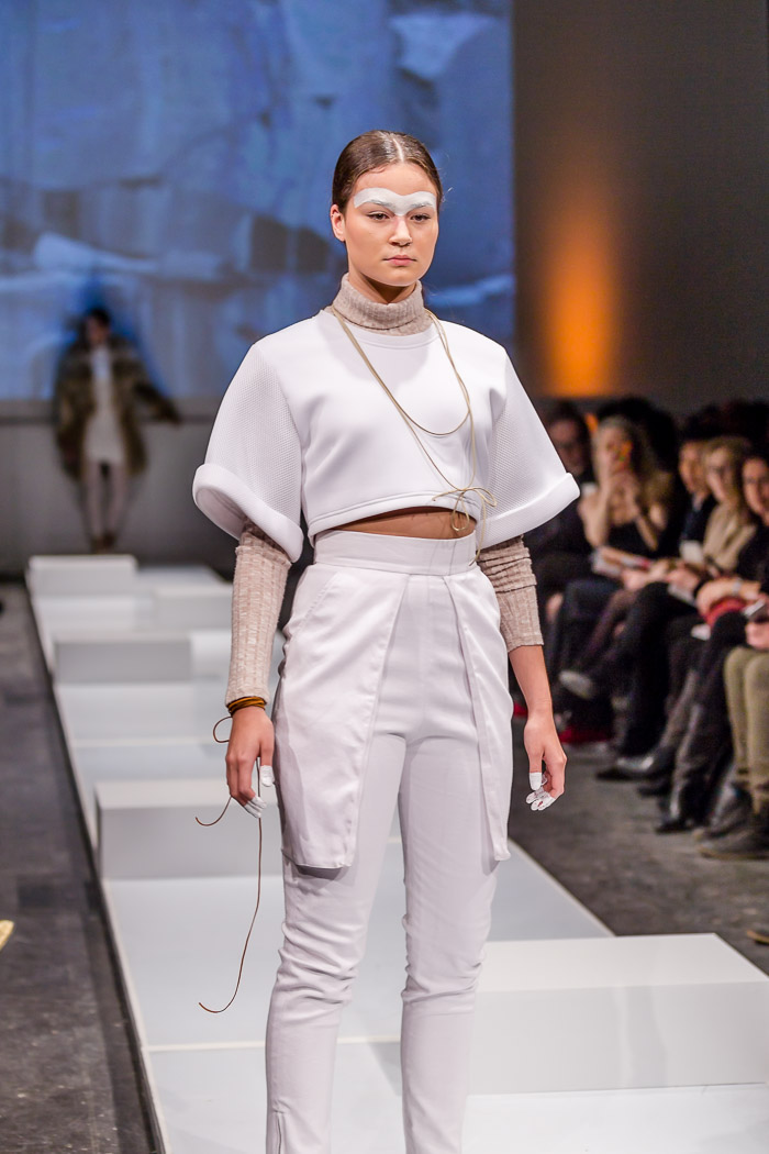 Image of outfit from Fashion Preview runway show by École de mode du Cégep Marie-Victorin