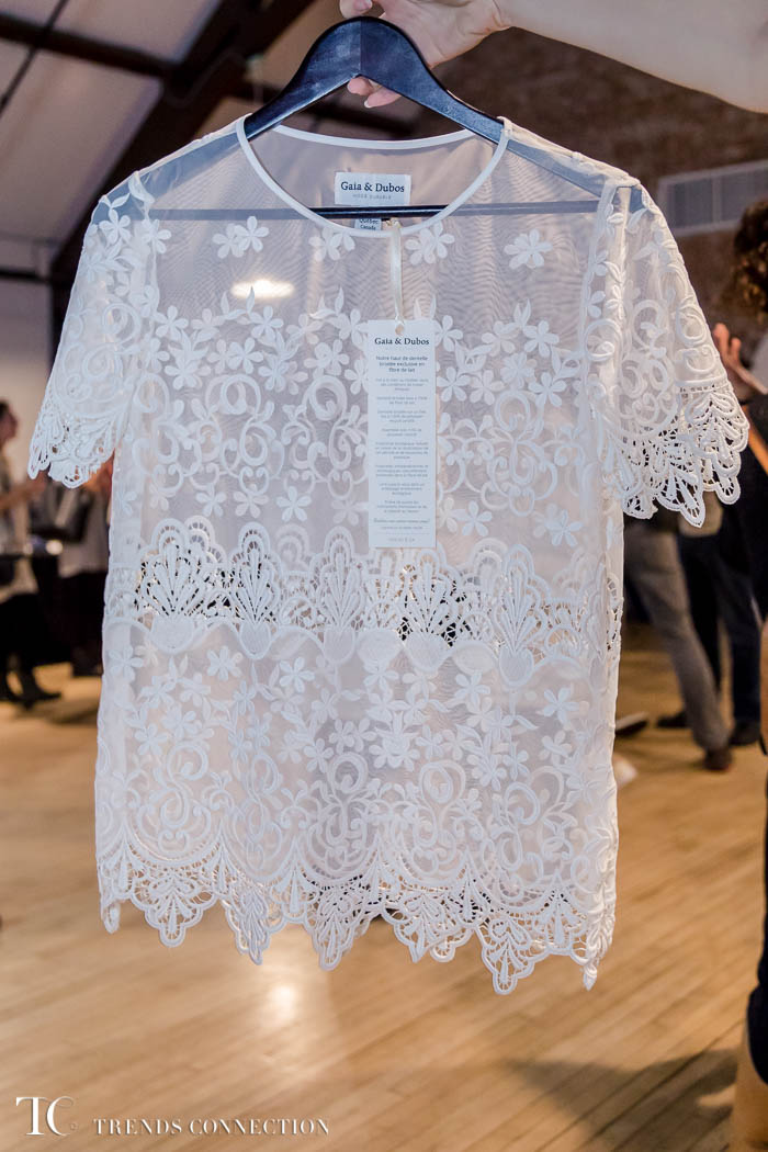 Milk fibre lace top by Gaia & Dubos