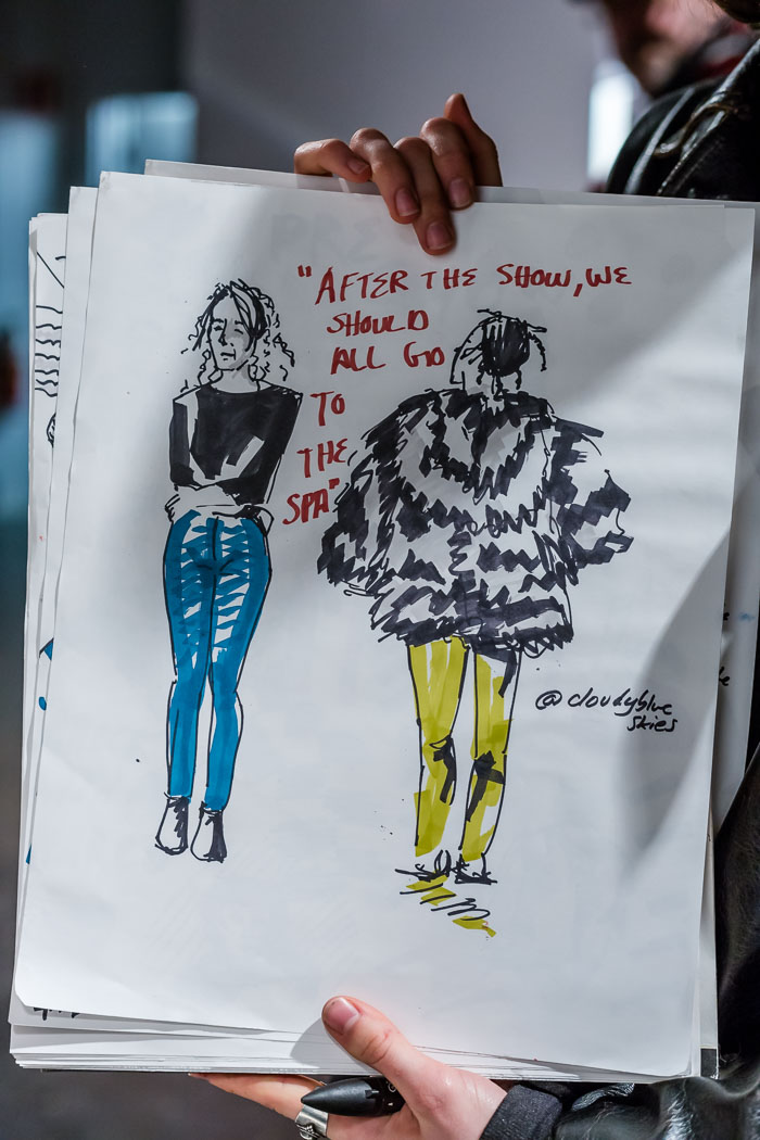 Illustrations during V-Franz runway show at Fashion Preview #7