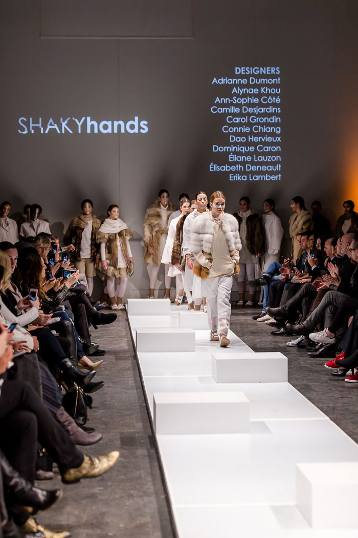 Image of outfits from Fashion Preview runway show by École de mode du Cégep Marie-Victorin