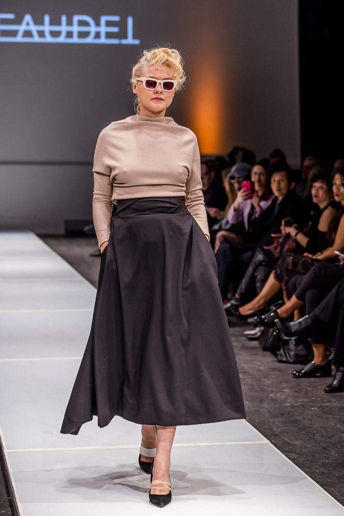 Photo of outfit from Leinad Beaudet fall-winter 2018 collection and runway show at Fashion Preview #7